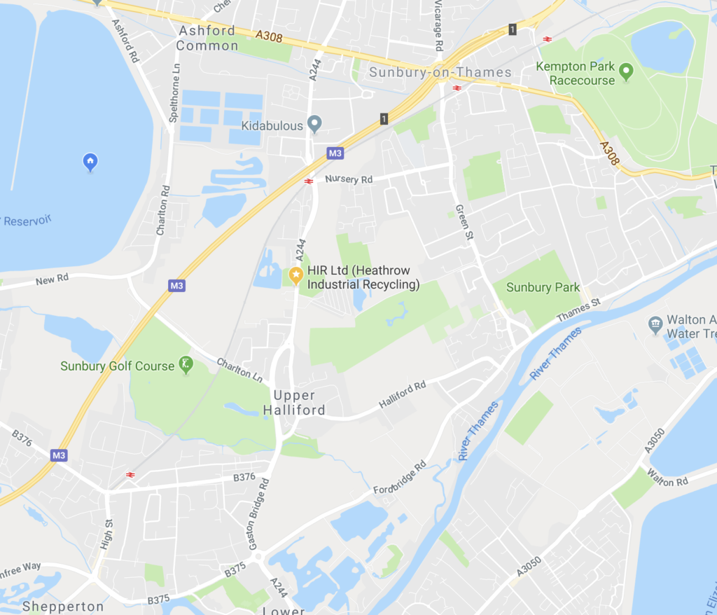 shows location of office